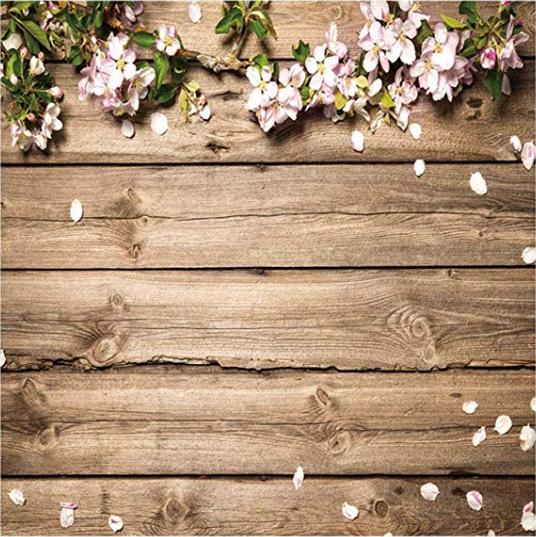 Rustic-Wood-Flowers-Floral Backdrop